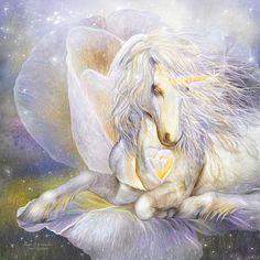 Heart Of A Unicorn Mixed Media by Carol Cavalaris