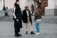 See all of the coolest looks from outside the shows in Moscow.