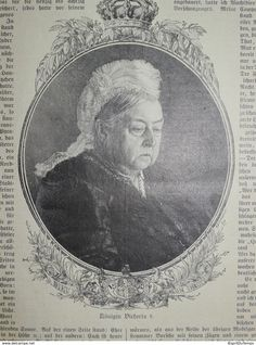 Koningin Victoria, Ca 1901 - Prenten & Gravure