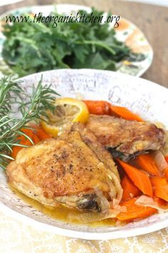 Slow Cooker Recipe~ Lemon Chicken with Rosemary