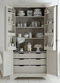 Free standing kitchen pantry. You could make something like it from ...