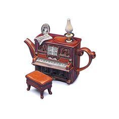 #Teapottery - Piano #Teapot by Teapottery English Teapots