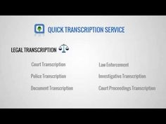 Quick Transcription Service provides high quality Legal Transcription service at affordable Transcription Price. With our experienced Legal Transcriptionist, you can be rest assured of high quality outcome and at the same time without compromising on ethical values to give you accurate legal transcripts whenever you do business with Quick Transcription Services on Legal Transcription. +98% of accuracy.Try out our low priced Legal Transcription services for all your legal outsourcing job.