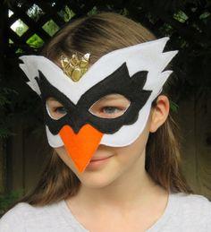 Felt Swan Mask Bird Mask Masquerade Swan Costume Mardi