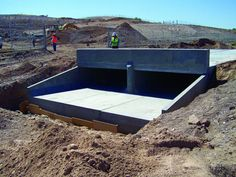 Installed quickly with less labor, maintenance-free precast concrete box culvert bridges deliver a long service life. Shipping Container Pool, Alpine House, Precast Concrete, Earth Homes, Civil Engineering, Bridge, Fig, Architecture, Dream Houses