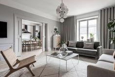Tour a Serene and Spacious Stockholm Home with an Harmonious Look - Nordic Design Scandi Living Room, Scandinavian Living, Scandinavian Interiors, Scandinavian Design, Style At Home, Big Area Rugs, Gray Interior, Interior Design, Home Decor Quotes