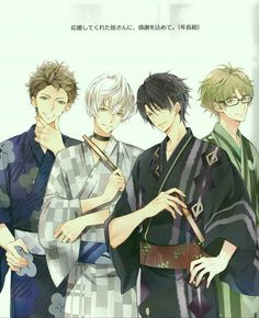 The front two resemble Shintaro and Kenzhi and the guy on the right is definitely Oliver. I suppose the guy on the left could be Anouk?