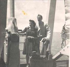 Viaje de novios a Canarias. Año 1942.