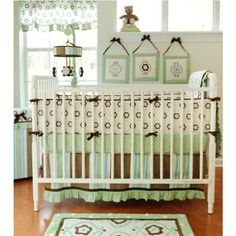Forget Me Not 4pc Nursery Crib Bedding Set