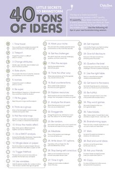 On the Creative Market Blog - 40 Little Secrets to Brainstorm Tons of Ideas