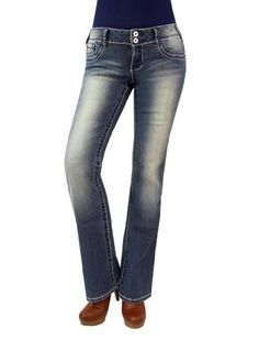 Angels Junior's Two Button Embroidered Medium Wash Boot Cut Jeans  Price : $29.99 http://www.angelsjeans.com/Angels-Juniors-Button-Embroidered-Medium/dp/B00GIYYS3C