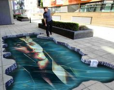 Loki sidewalk art  THIS.Is the most beautiful thing i've ever seen