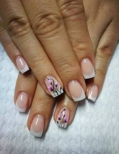 French Manicure Designs, Nail Designs, Candy Paint, Beautiful Nail Art, French Nails, Acrylic Nails, Nail Polish, Projects, Ideas