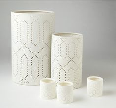 Need something subtle? These #Dwell Studio trellis lanterns will add a perfect glow to your table or mantle