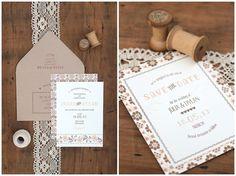 rustic daisy inspired wedding invitation