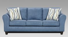 Roundhill Furniture Microfiber Sofa with 2 Pillows, Patriot Blue Coordinate your living room with this Patriot Blue Microfiber Sofa. Sofa Couch, Couch Set, Sofa Design, Living Room Sofa, Living Room Furniture, Microfiber Couch, Apartment Sofa, Apartment Living, Elegant Sofa