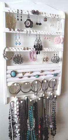 Jewelry Organizer Ring Holder White