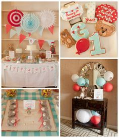 Teddy bear birthday party ideas, such a cute boy birthday with beautiful birthday cake and bear macarons. #boybirthday See more party ideas at CatchMyParty.com