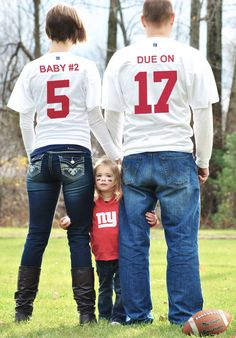 Adding another player to our family's roster :)  Our pregnancy announcement for baby #2