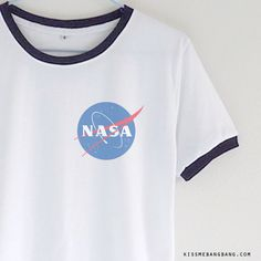 Nasa Logo Ringer T-shirt | Kiss Me Bang Bang | Follow us for more awesome shirts! @gwylio0148