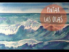 Tutorial Acuarelas: como pintar las olas del mar (super facil) * ART Tv by Fantasvale - YouTube
