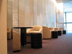 home decor - silver mesh room divider by Whiting & Davis - Designer: Peter Marino & Associates