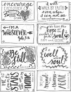 Bible Journaling on Index Cards!! Love this idea from
