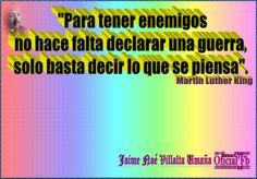 VALORES MORALES Y CÍVICOS: Reflexiones. Martin Luther King