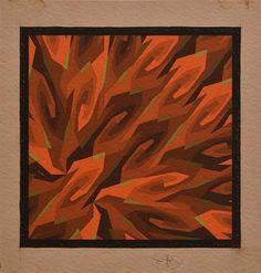 Sun Flames - Hans Hinterreiter - Op Art, 1937