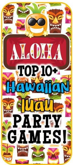 Over 12 Hawaiian luau party games to play at your luau bash! Check out this list… Over 12 Hawaiian luau party games to play at [. Aloha Party, Hawai Party, Adult Luau Party, Hawaiian Party Games, Kids Luau Parties, Luau Theme Party, Party Fiesta, Tiki Party, Hawaiian Parties