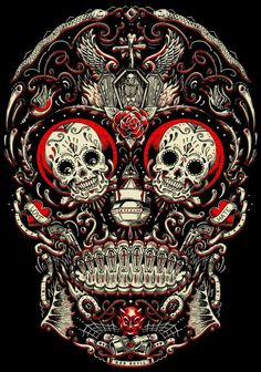 xcellent sugar skull wallpaper by - 64 - Free on ZEDGE™ Mexican Skulls, Mexican Art, Caveira Mexicana Tattoo, Zealand Tattoo, Totenkopf Tattoos, Candy Skulls, Sugar Skulls, Drawn Art, Day Of The Dead Skull