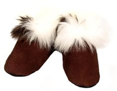 Hand Sewn Suede Alpaca Leather Slippers from the Crystal Lake Alpaca Boutique! #alpaca #suede #leather #slippers #fashion