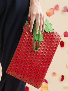 Who wouldn't want a strawberry clutch from Alice + Olivia for the summer??