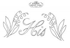 His and Hers Lily of The Valley Embroidery Pattern for towels or pillowcases
