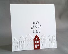 MASKerade: CASology 118 - Home Might be a fun idea for a new home announcement! Poppy die cut
