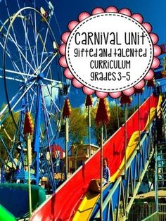 Math, science, literacy, writing, and brain teasers all with a carnival and roller coaster theme for third, fourth, and fifth grade.  Made for GT but would be awesome for the regular classroom also! AND ONLY $1.50.  WOW!