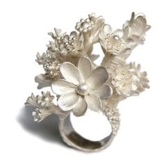 Nora Rochel flower ring...pinned by ♥ wootandhammy.com, thoughtful jewelry.