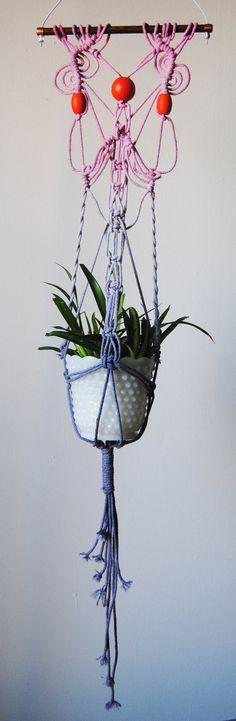 Macrame Plant Hanger by SlowDownProductions on Etsy