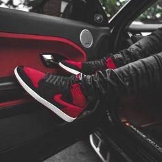 Bred Flyknit by # Jordan 1, Zapatillas Jordan Retro, Sneakers Fashion, Shoes Sneakers, Reebok, Air Jordan Sneakers, Baskets Nike, Fresh Shoes, Hype Shoes