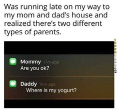 Two different types of parents