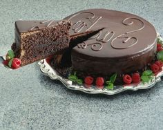 A Piece Of Chocolate Cake | HD Chocolates and Fruits Wallpapers for Mobile and Desktop