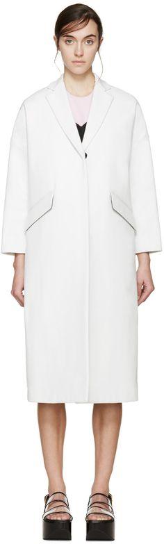 MSGM White Twill Volume Coat. #msgm #cloth #coat