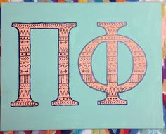 Tribal print Pi Beta Phi craft #piphi #pibetaphi