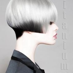 uniform layere bob with an undercut Sculpted Bob Hairstyles with Projection of zero to 90 degrees