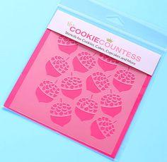 Acorn Cookie Stencil