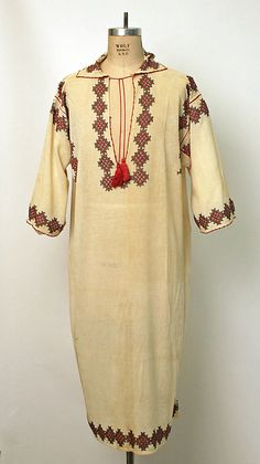 Shirt Date: early century Culture: Romanian Medium: cotton Fashion Wear, I Love Fashion, European Costumes, Funky Outfits, Caftan Dress, Folk Costume, Museum Collection, Ethnic Fashion, Metropolitan Museum