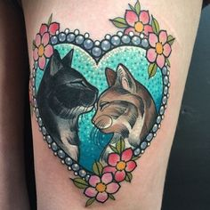 Image result for two cat tattoo