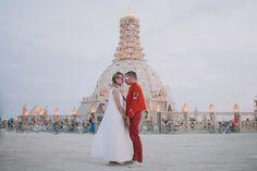 Burn man wedding