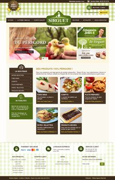 Webdesign du site internet des Foies Gras Sirguet : http://www.sirguet.fr/ par l'agence web Yellow : http://www.yellow-agence-internet.com/