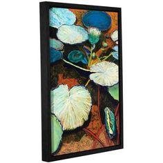 ArtWall Allan Friedlander Frogs Hideaway Gallery-wrapped Floater-framed Canvas, Size: 12 x 18, Brown